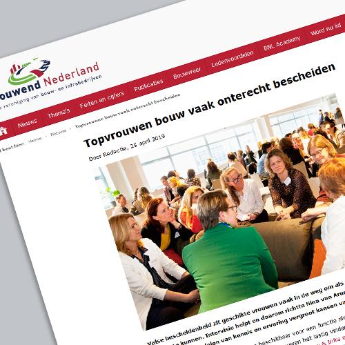 Artikel bouwend nederland Topvrouw onterecht bescheiden?