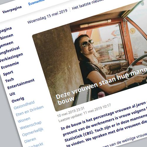 Artikel op nu.nl Deze vrouwen staan hun mannetje in de bouw