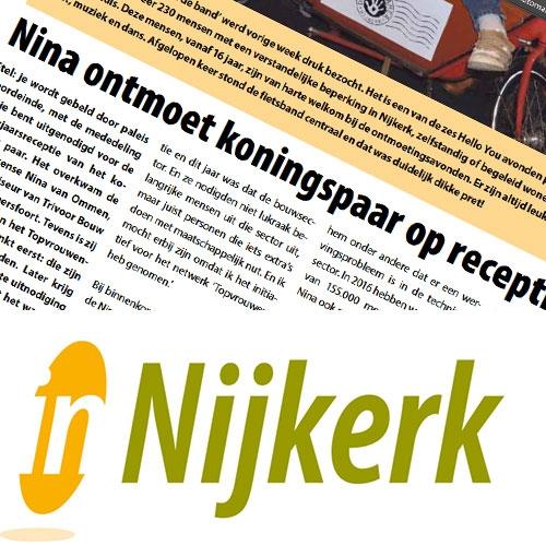 Nina ontmoet koningspaar Voorpagina In Nijkerk