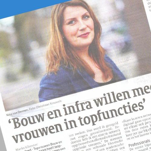 Meer vrouwen in topfuncties Cobouw Krantenartikel
